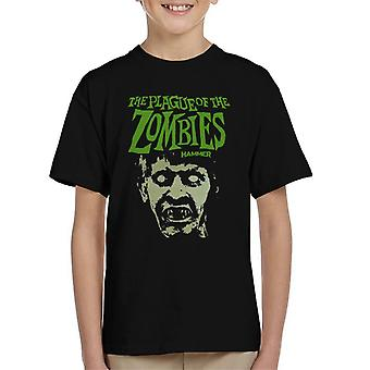 Hammer The Plague Of The Zombies Face Poster Kid's T-Shirt