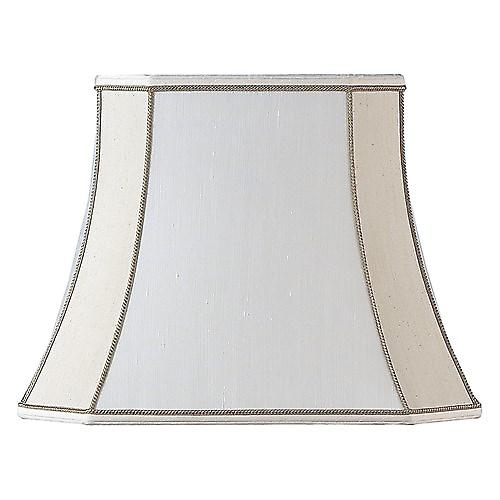 Endon CAMILLA-5.5 Camilla Square Cut Beige Silk Clip On Fabric Shade - 5.5 Inch