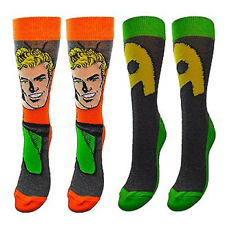 DC Comics Aquaman Assorted Socks (2 Pairs)  - ONE SIZE