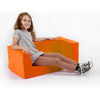 Children's Orange Comfy Foam Mini Sofa