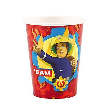 Feuerwehrmann Sam 8 Becher 200 ml Fireman Sam Samparty Kindergeburtstag