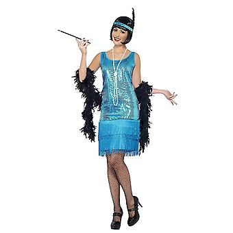 Smiffys Adult Women's Funtime Flapper Fancy Dress Costume - XL Size