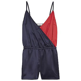Tommy Hilfiger Women Colour Blocked Playsuit, Navy Blazer, X-Small