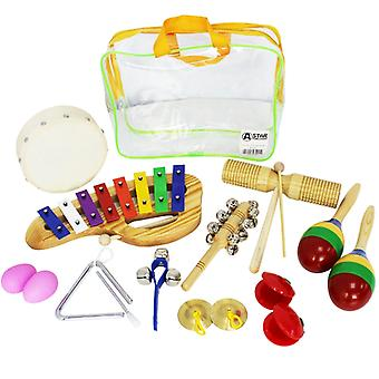 A-Star 10 Piece Childrens Percussion Pack
