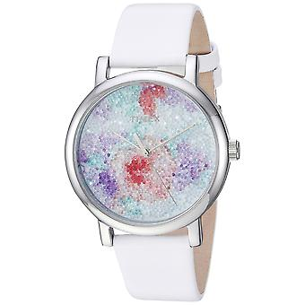 Timex Womens Crystal Bloom bianco/argento floreale in pelle Strap Watch TW2R66500