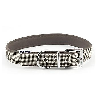 Ancol Indulgence Country Check Dog Collar - 22-26cm