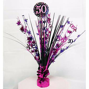 Amscan Sparkling Celebration 50th Birthday Centrepiece Spray Decoration