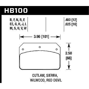 Hawk Performance HB100G.480 DTC-60