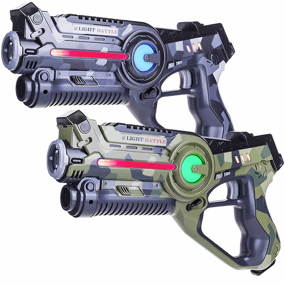 2 laserpistolen camo groen grijs