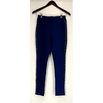Nick Verreos Leggings Nick Verreos Legging w/ Silver Stud Trim Blue A423348
