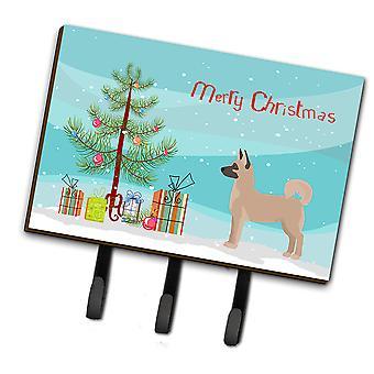 Akita Shepherd Christmas Tree Leash or Key Holder