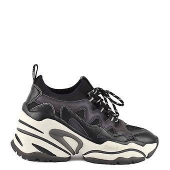 Ash Footwear Bird Black Leather Wedge  Trainer
