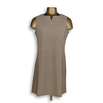Liz Claiborne New York Dress Petite Ponte Knit Brown A256439
