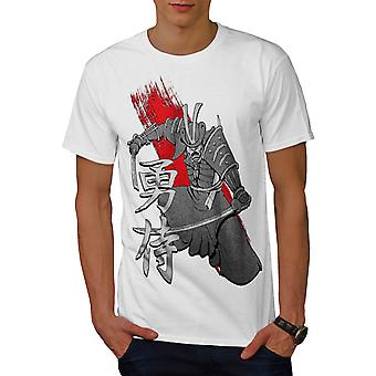 Oude Samurai Warrior Art mannen witte T-shirt | Wellcoda