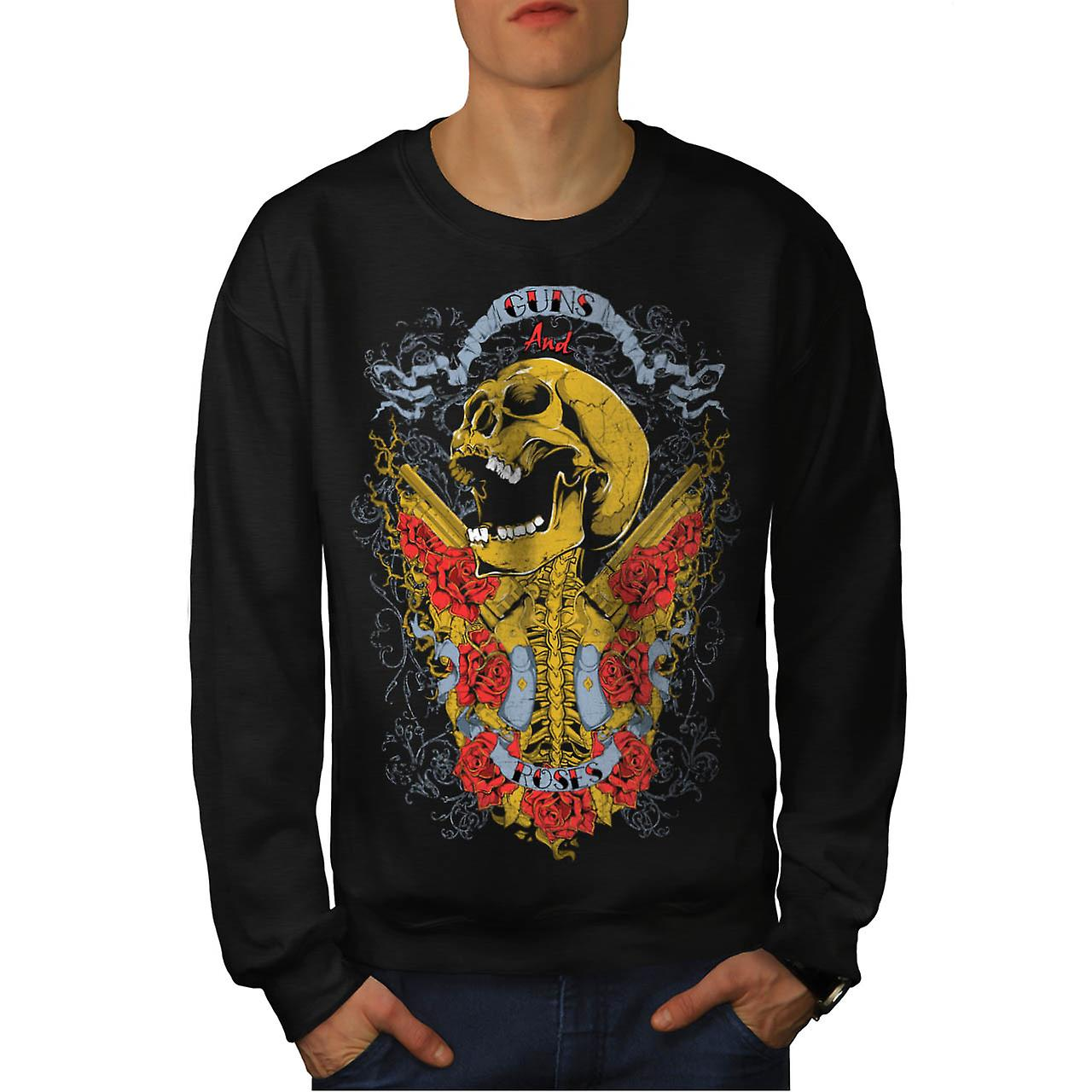 Guns And Roses calavera Music Hero Men negro sudadera | Wellcoda