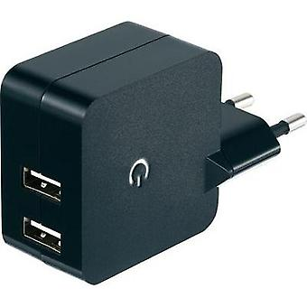USB charger Mains socket VOLTCRAFT SPS-2400/2 Max. output current 2400 mA 2 x USB