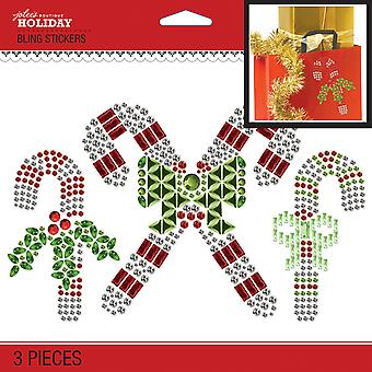 Jolee's Boutique Dimensional Stickers-Bling Candy Cane E5051092