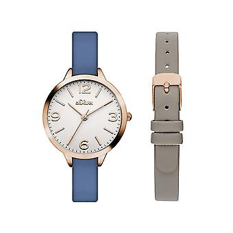 s.Oliver women's watch wristwatch leather SO-3240-LQ
