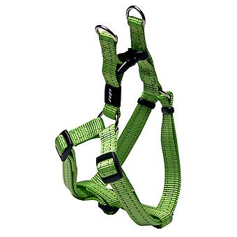 Rogz Snake Reflective Nylon Step-in Harness Lime Green 16mm