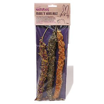 L'ennui Breaker friandises naturelles Crunch N Munch Millet (Pack de 10)