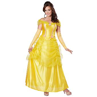 Classic Beauty And The Beast Princess Belle Fairytale Book Week Women Costume