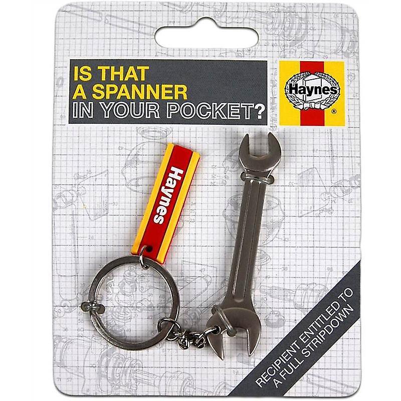 Haynes Car Mechanic Tools Spanner Metal Keyring