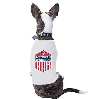 American Warrior White Pets Tshirt For Small Dogs Cute Gift Ideas