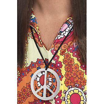 Мира медальон хиппи 60-х шеи цепь