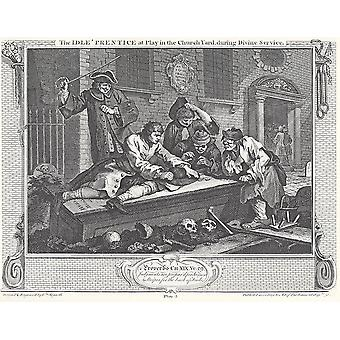 William Hogarth - Industry and Idleness The Idle Poster Print Giclee