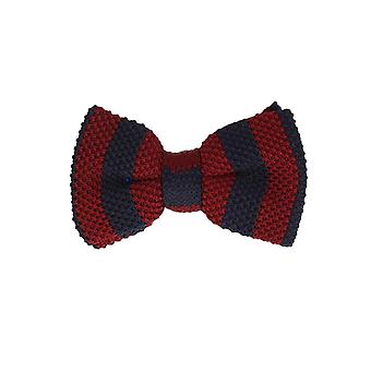 Marcell Sanders men fly loop tie cotton knitted look tied red blue