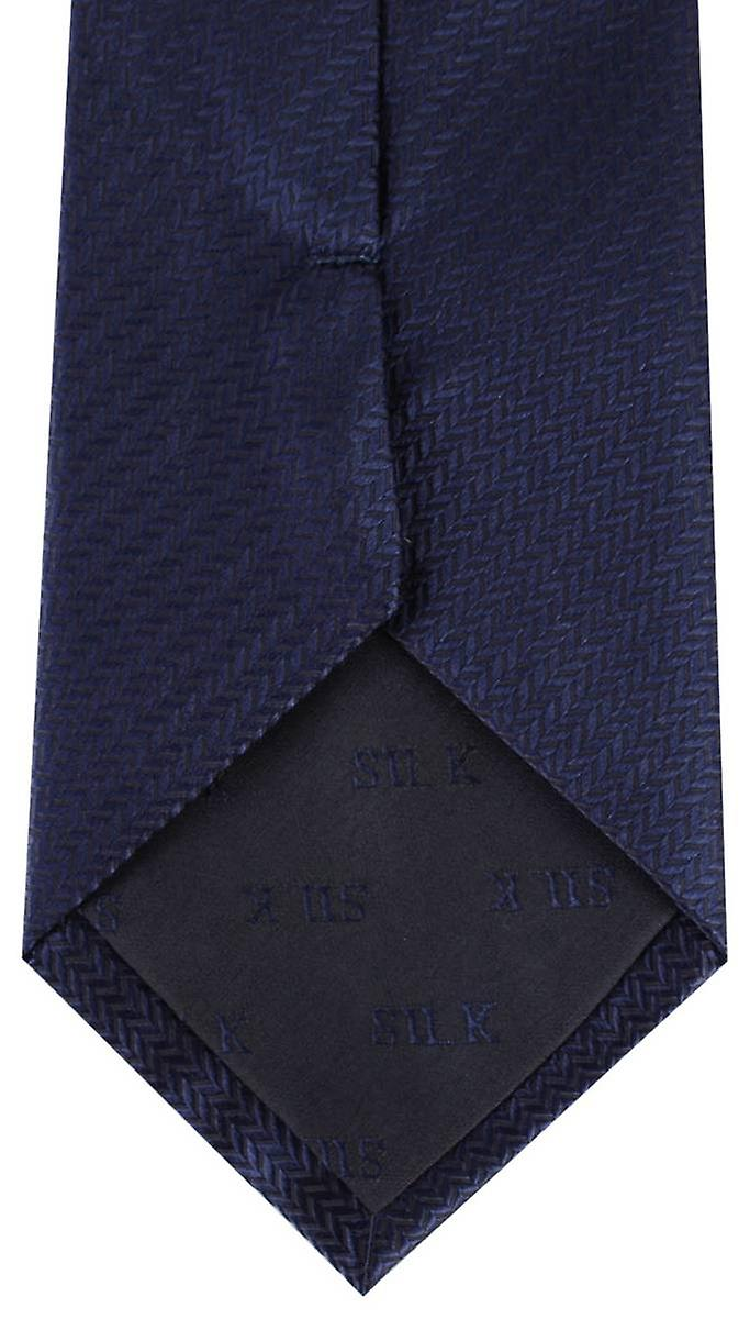 David Van Hagen Herringbone Tie - Navy