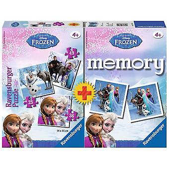 Ravensburger Multipack Frozen Memory With 3 Puzzles (Speelgoed , Bordspellen , Puzzels)