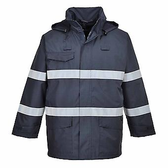 Portwest - Bizflame Rain Multipurpose Protective Jacket With Pack Away Hood