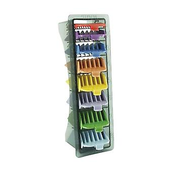 Wahl 3170-800 No.1-8 Coloured Plastic Comb in Caddy