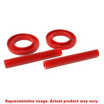 Energy Suspension Coil Spring Isolator Set 4.6102R Red Front Upper / Lower Fits