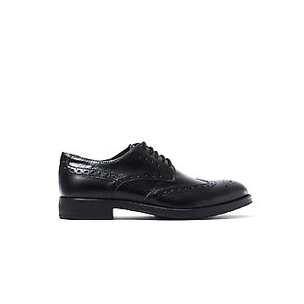 Men's U Blade D Brogues - Black Leather