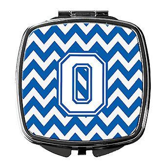 Carolines Treasures  CJ1045-OSCM Letter O Chevron Blue and White Compact Mirror