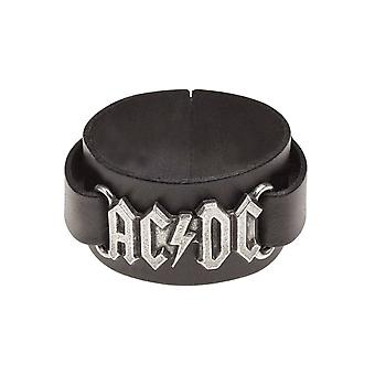 AC/DC Wristband classic band Logo new Official Alchemy Black Leather Buckle