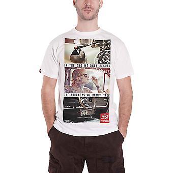 Quarter Mile T Shirt Journeys Graphic logo built to race Official Mens White