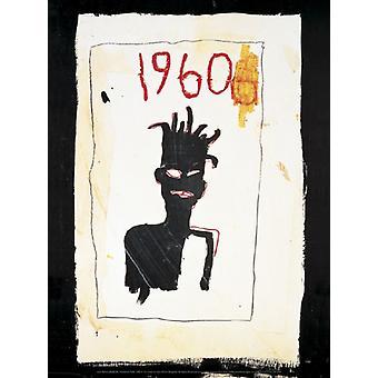 Sin título (1960) 1983 póster impresión por Jean-Michel Basquiat (12 x 16)