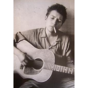 Bob Dylan Guitar Guitar Cigarette Poster Poster Print