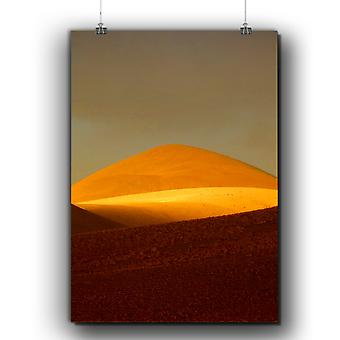 Matte or Glossy Poster with Desert Sunset Sand Nature | Wellcoda | *q255