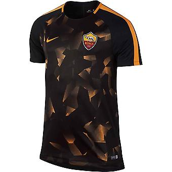 2017-2018 AS Roma Nike Pre-Match Training Shirt (Black) - Kids