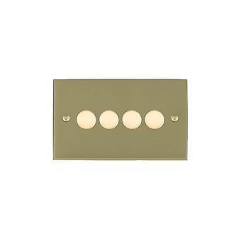 Hamilton Litestat Cheriton Victoriaanse satijn Brass 4g 400W 2 manier Dimmer SB