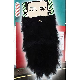 Barbas y bigotes de larga barba negra