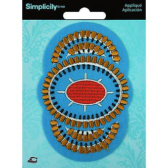Wrights Iron-On Applique-Aztec Circles 2 193 0876