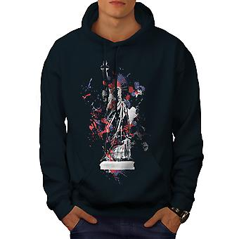 Statue Freedom New York Men NavyHoodie | Wellcoda
