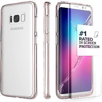 S8 SaharaCase Galaxy claro caso, Kit de protección con ZeroDamage vidrio - templado oro rosa