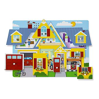 Melissa & Doug Around the House Sound Puzzle - Wooden 8 pcs