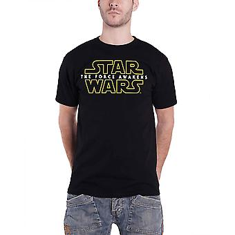 Star Wars T Shirt The Force Awakens Logo Rogue One Official Mens New Black